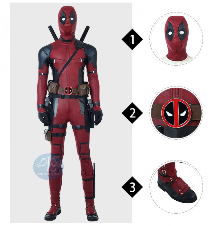 Deadpool 2 high quality cosplay costume outfits for adult Halloween costumes manluyunxiao  sc 1 st  Sylodium & Import Export Wuhan: Deadpool 2 high quality cosplay costume outfits ...