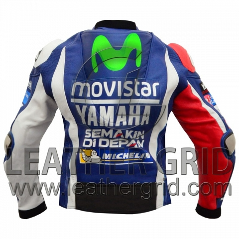 Jorge Lorenzo Yamaha Movistar MotoGp 2016 Motorcycle Racing Jacket