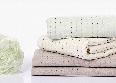 Double gauze fabric bath towel