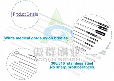 Welcome To Order Nylon Medical Stainless Cleaning Brush From Aoqun