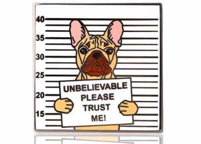 Cute Bulldog Dog Enamel Pin