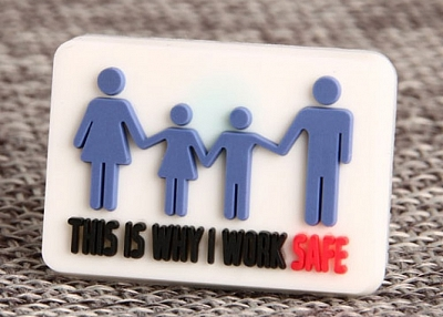 Work Safety PVC Lapel Pin