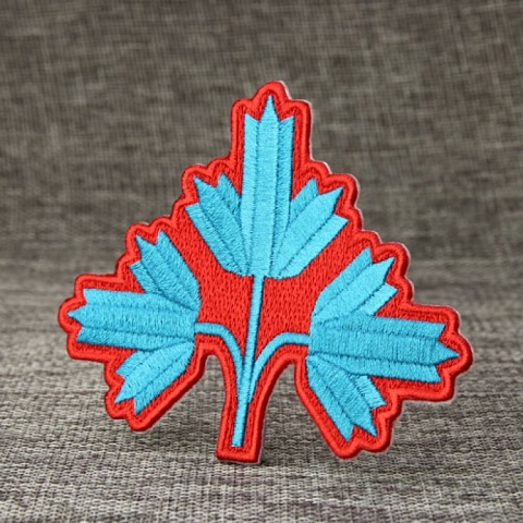 Leaf Custom Embroidered Patches