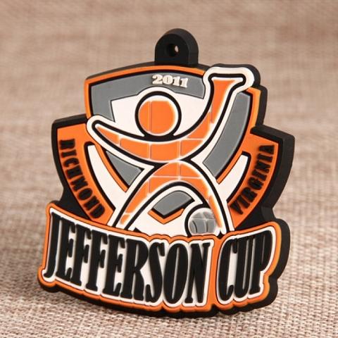 Custom PVC Patches | Jefferson Cup PVC Patches | GS-JJ.com ™ | Cheap