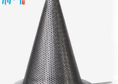 Perforated conical strainer