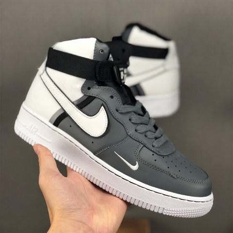 Nike Air Force 1 Shoes For Women/Men in Gray