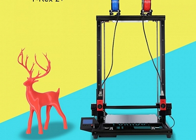 Which is professional manufacturer of large 3d printers with independent dual extruder