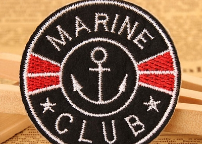 Custom Embroidered Patches | Marine Club Embroidered Patches