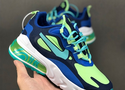 Nike Air Max 270 React in Blue For Women/Men nike shoes with arch support