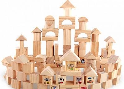 Wooden paint-free blocks