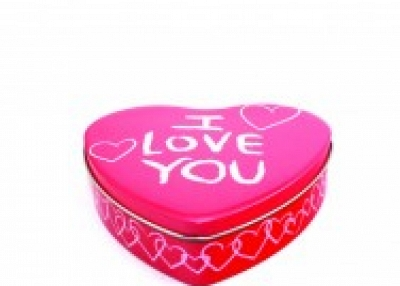 Guangdong heart shape chocolate tin box