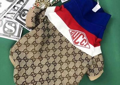 ブランド グッチ&CDG ペット秋冬服 と ディオール 犬 首輪セット