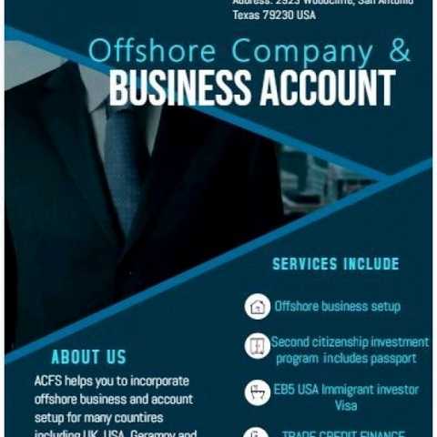 Offshore Business set up / ForeignAccount opening / Bank Guarantee