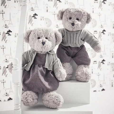 DRESSING COUPLE TEDDY BEAR