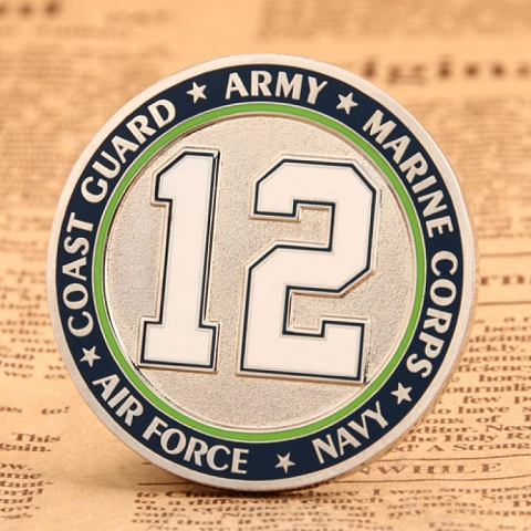 Military Coins   12 Military Challenge Coins
