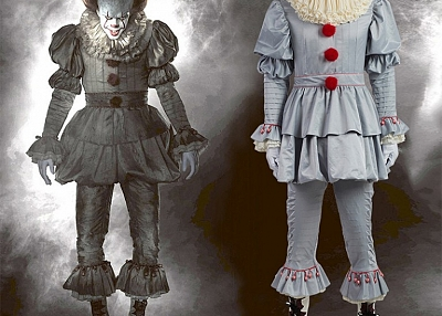 ManLuYunXiao Halloween Pennywise Cosplay Scary Clown Costume for Adult Children Any Size