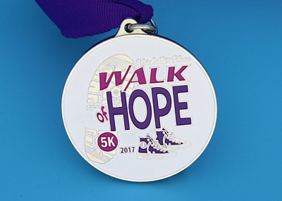 Walk of Hope 5K Race Medals