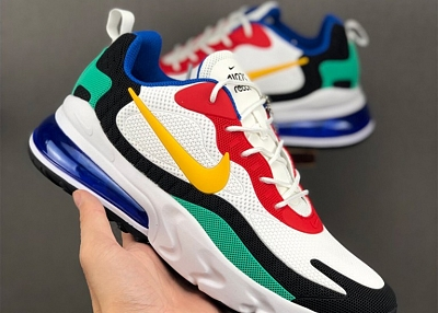 Nike Air Max 270 React in Black For Women/Men nike shoes with thick soles