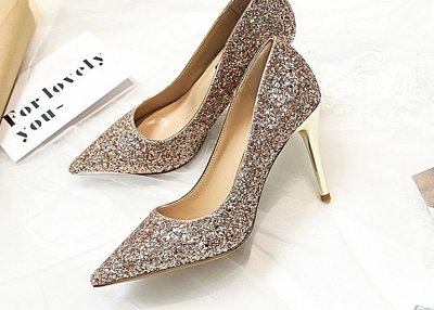 POINTED SEQUINED SANDAL