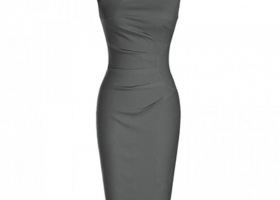 V Neck Mid Length Cocktail Party Pencil Dresses