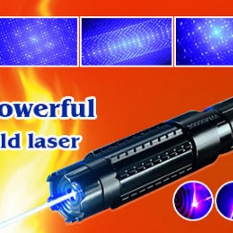 300mw Green Laser  heats up each pillar