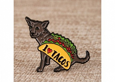 I Love Tacos Lapel Pins