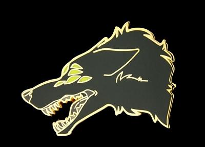 Wolf Enamel Pins