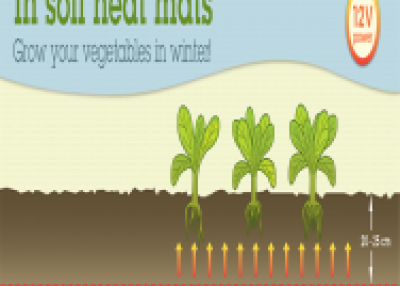 In soil heat mats