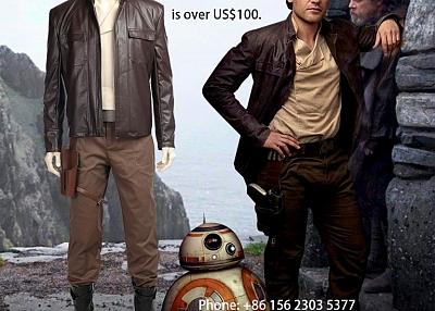 ManLuYunXiao Star Wars 8 Poe Dameron Cosplay Costume Adult Full Set For Men Custom Made