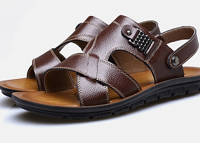 LEATHER BEACH SHOES