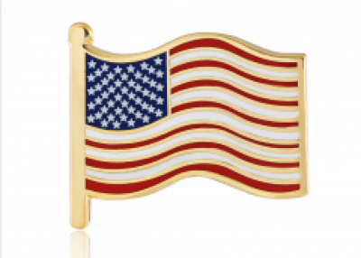 enamel pins for American flags