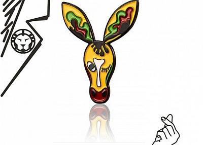 Drama Donkey Enamel Lapel Pin