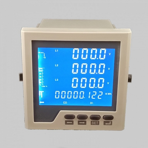 Where does the LCD multi-function digital power meter used for?