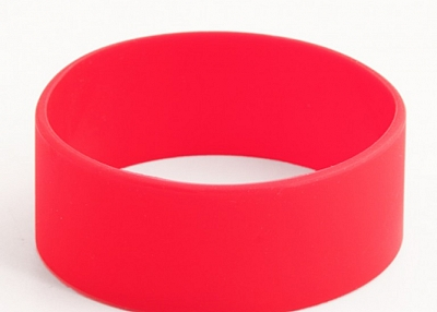 Red blank rubber wristbands