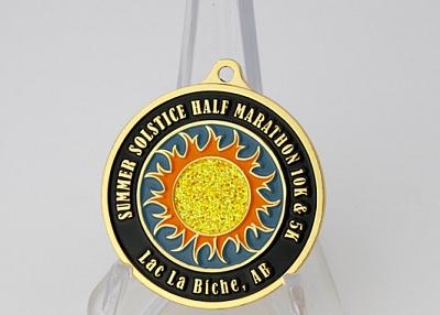 Summer Solstice Marathon Custom Medals