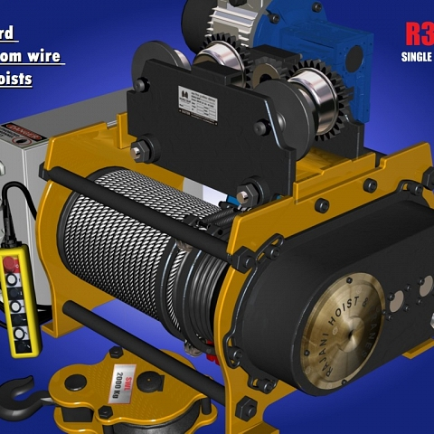 Electric Wire rope hoist and cranes