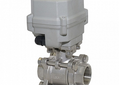 A150-T25-S2-B 3 pcs pieces DN25 SS304 motorized valve normally closed