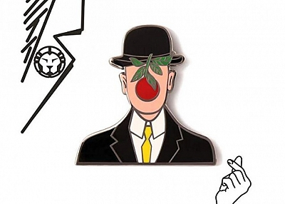 GS-JJ Cool Gentleman Custom Enamel Pins 1.5