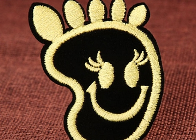 Smiling Foot Custom Patches