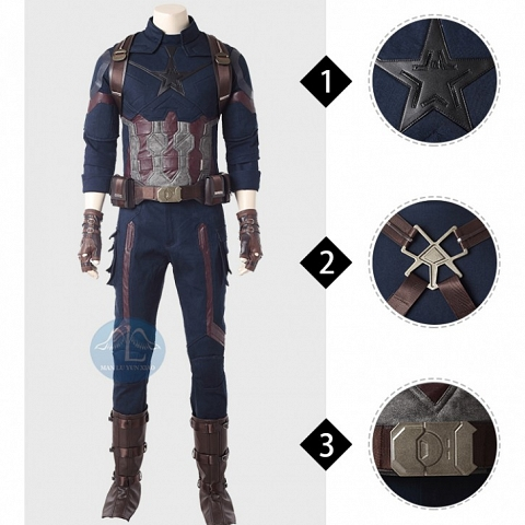 MANLUYUNXIAO Avengers Infinity War Captain America cosplay costume
