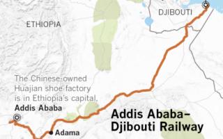 Strategic Chinese railway in Africa.