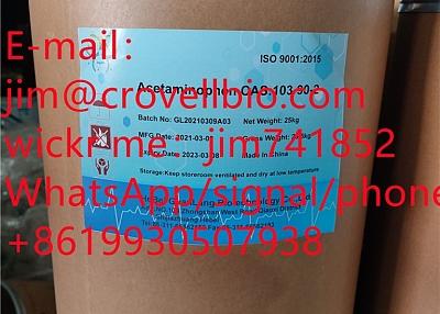 jim@crovellbio.com Acetaminophen CAS:103–90–2 Supplier,Factory supply.
