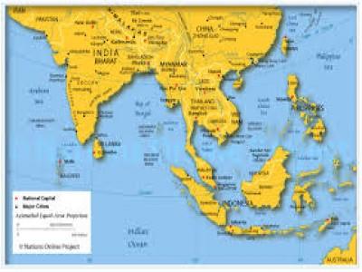 Sudeste Asiatico Mapa el Sudeste Asi Tico Por