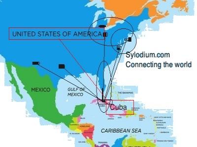 Cuba USA Trade - Cuba and usa map