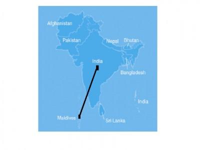 India Maldives - India maldives map male