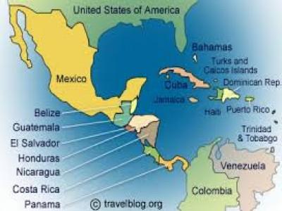 US, Mexico, Central America.